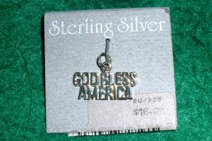 And, a Sterling Silver God Bless America Charm!